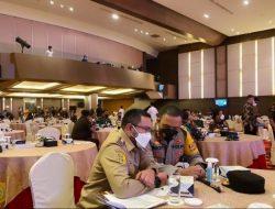Bupati Pakpak Bharat Hadiri Rakor Evaluasi PPKM Dan Penyerapan Anggaran Covid-19