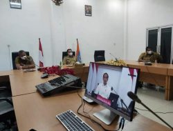Bupati Serta Wabup Labuhanbatu Ikuti Pengarahan dari Presiden RI Melalui Zoom Meeting